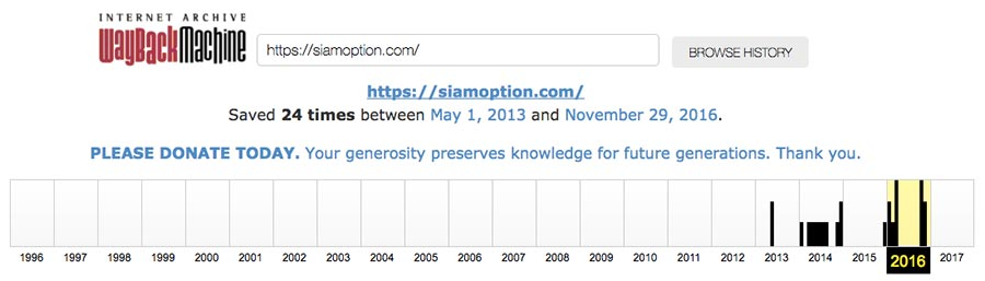 Web Archive SiamOption